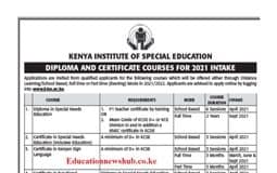 Dip and Cert in SNE KISE_Advert