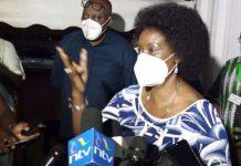 TSC Boss Dr. Nancy Macharia; speaking to the media.