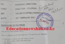 TSC teacher transfers news 2021