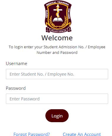 KMTC Student Portal.