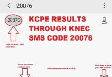 How to compose and send a message to Knec SMS code 20076 for your KCPE results.