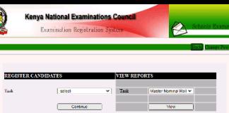 The KCSE Registration Portal.