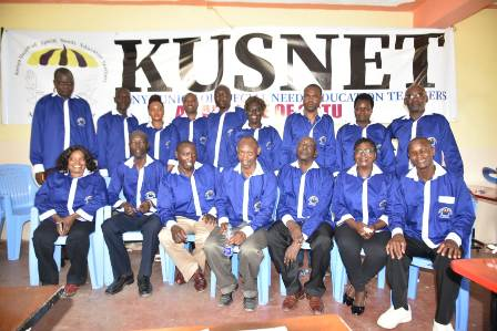 The Kenya Union of Special Need Education Teachers KUSNET officials.