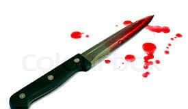 A blood stained knife.