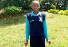 Faith Mumo from Kari Mwailu Primary School.