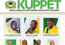 Kuppet National Officials 2021-2026