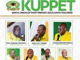 Kuppet National Officials 2021-2026
