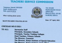 TSC circular to teachers on filing of KRA returns.