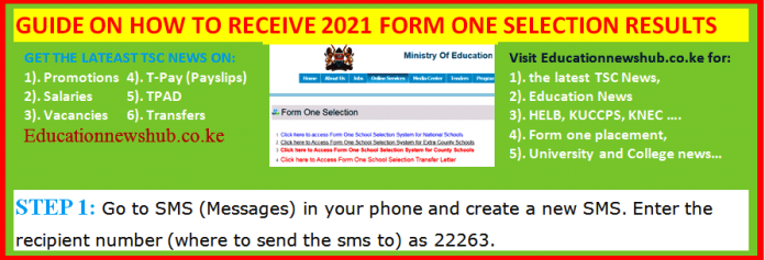 2021 form one admissions.