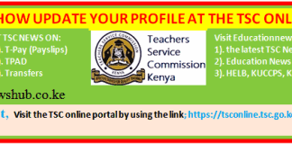 How to easily update your TSC profile online- Simplified guide.