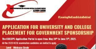 Kuccps portal now open for Course applications, revisions by KCSE 2020 candidates