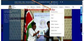 TSC online portal for teachers posting, entry and exit.